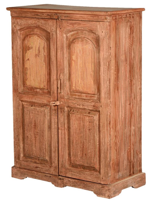 New Orleans Rustic Reclaimed Wood Storage Cabinet Armoire   Armoires And  Wardrobes