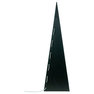 Pyramid Steel Floor Lamp, Black