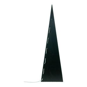 Pyramid Steel Floor Lamp, Black