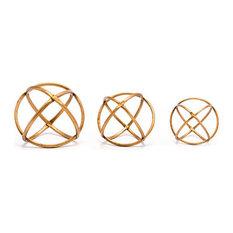 Quattro 3-Piece Orbs Decor Set, Gold