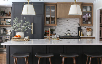 Kitchen of the Week: Wood and Black Cabinets and Better Flow