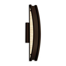 "Porcelina Cardiff, 20"" LED ADA, Outdoor Wall Sconce, Dark Bronze, Waves"
