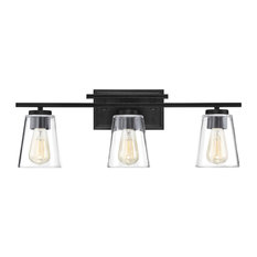 Vanity Fixture, Matte Black, 3-Light