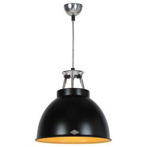 Titan Small Pendant Light, Black and Bronze Interior