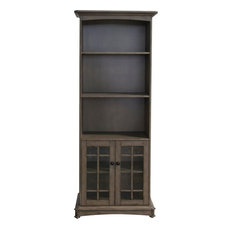 Crestview Acacia 2 Door And 3 Shelf Bookcase CVFVR8201