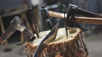 Piezas de acero forjado medieval para venta