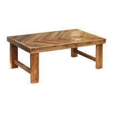 Herringbone Coffee Table Wood Legs