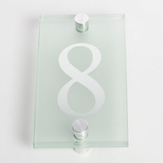 - Sandleford 80mm Glass Numeral - 8 - House Numbers