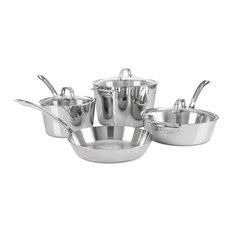 Viking 7-Piece Contemporary Cookware Set, Mirror Finish