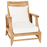 """Oasiq - OASIQ Limited 100 Lounge Chair, High Back, With Canvas Natural Cushions - The Limited collections fused the best of contemporary designs with the finest teak. There are several styles that will accommodate your needs. Limited collections can be used in any environment, at your beach house or simply in your al fresco kitchen. The best is, this collection is in stock and ready to ship.  Seat height: 9.75"""""""