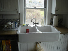Sink In Front Of Low Window