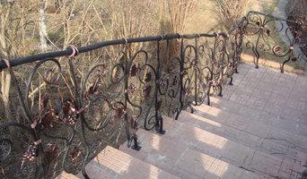 Кованые ограждения в саду, г. Звенигород