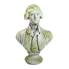 Thomas Jefferson 29 By Houdon, Famous Americans Busts