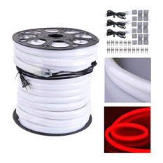 150' Led Neon Rope Light Outdoor Christmas Party Flexible Tube, Red