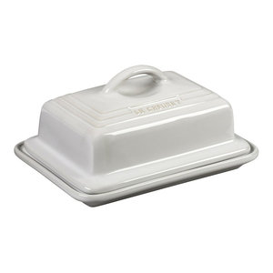 Le Creuset Heritage White Stoneware Butter Dish
