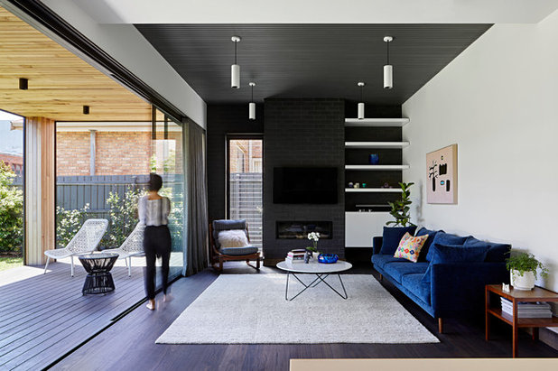Contemporary Living Room by MANI ARCHITECTURE