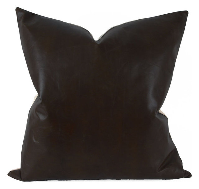 x espresso decorative brown pillows leather contemporary product pillow