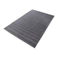 Ronal Handwoven Cotton Flatweave 8905-091 Rug, Charcoal, 5'x8'