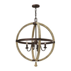 Middlefield 4 Light Chandelier in Iron Rust