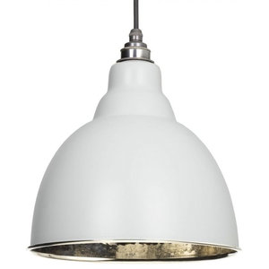 From The Anvil Brindley Pendant, Light Grey Hammered Nickel