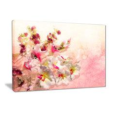 """Pink Bouquet of Flowers"" Floral Canvas Print, 40""x30"""