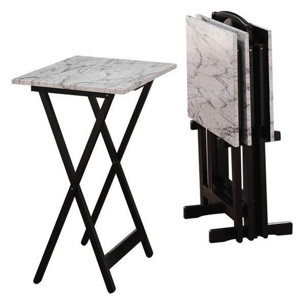Contemporary Tray Tables Set 5-Piece  sc 1 st  Houzz & Contemporary Tray Tables Set 5-Piece - Transitional - Folding ...