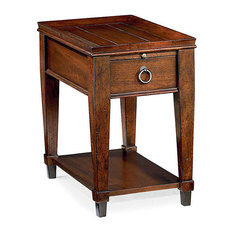 Sunset Valley Chairside Table By Hammary Rich Mahogany