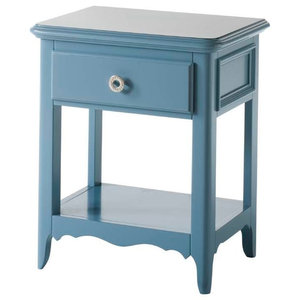 Light Blue Bedside Table With 1 Drawer