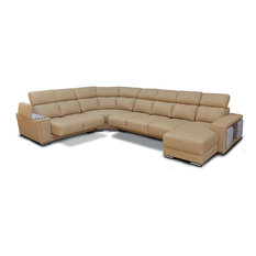 ESF Wholesale Furniture - 8312 Sectional With Sliding Seats, Right - Sectional Sofas