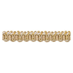 """Gold Antique Gold 1//2/"""" Gimp Braid Trim Rustic Gold By The Yard"""