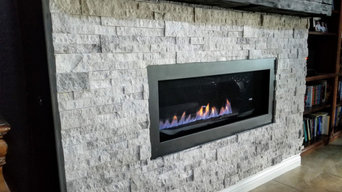 Accent Firplace wall and Beam Mantel