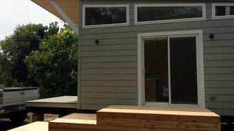 TexZen Tiny Homes Deck Installation