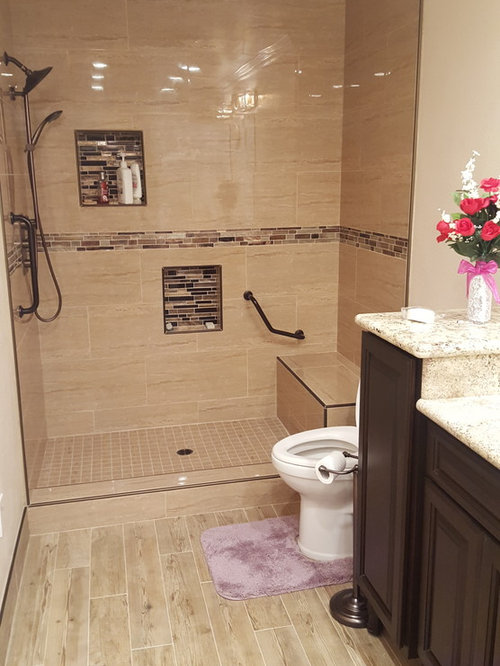 Bathroom design ideas renovations photos with brown for 3 piece bathroom ideas
