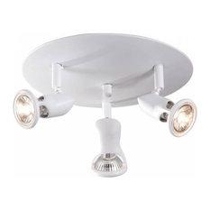 New Flipper Ceiling Light, White, 3 Lights