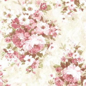 Brewster 2605-21600 Belle Rose Floral Bouquet Wallpaper