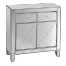Southern Enterprises - Southern Enterprises Inc Mirrage Contemporary Mirrored Cabinet - Accent Chests and Cabinets