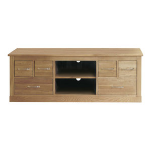 6 Drawer Mobel Contemporary Oak Television Cabinet