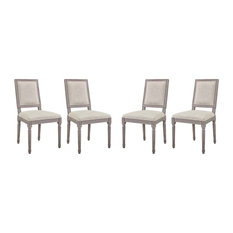 Court Dining Side Chair Upholstered Set of 4, Beige