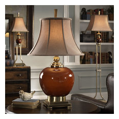 Uttermost Daviel Table Lamp, Red