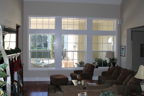 Is It Too Tall To Hang The Rod Over All Windows A Few Feet From Ceiling Or Should I Between Two Sets Of Thank You