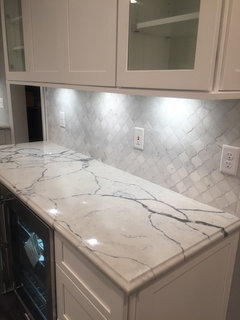 Suggestions For Backsplash With Calacatta Lago And Shiloh