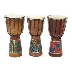 Wooden Drums, 3-Piece Set, 8  x16