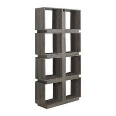 "Bookcase, 71""H, Dark Taupe"