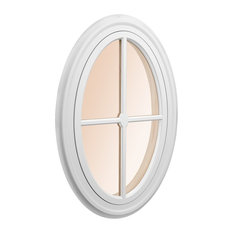 """Oval Accent Window with Poplar Interior Casing + 3 1/2"""""""