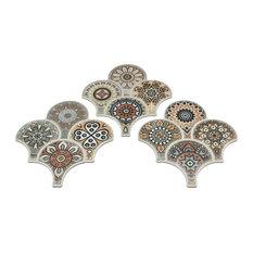SomerTile Scala Granada Porcelain Floor /Wall Tile, Colors Decor, Case of 14