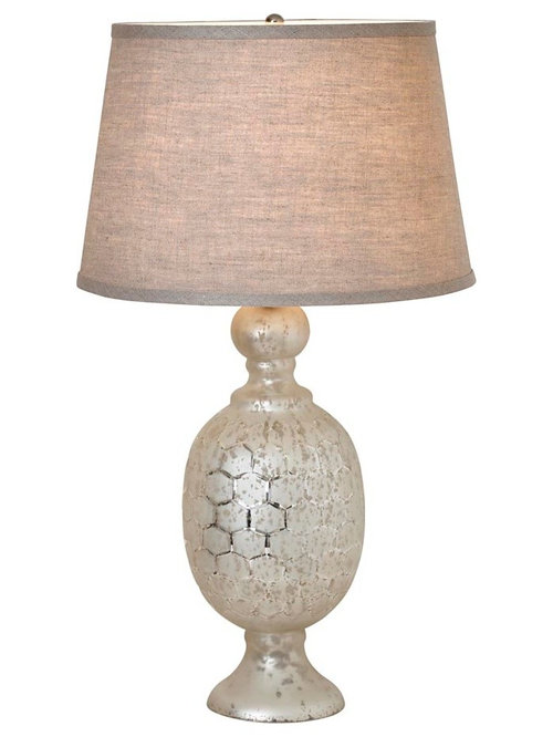 St charles etched lattice lamp by bassett furniture table lamps