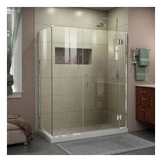 "DreamLine Unidoor-X 60""x30.375""x72"" Shower Enclosure, Chrome Finish"