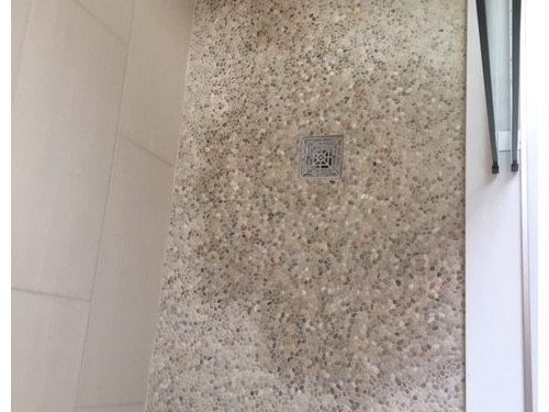 How Do Seal This Mini-pebble Shower Floor?