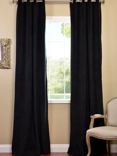 Curtains Ideas black velour curtains : Signature Blackout Velvet Curtains