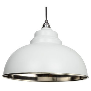 From The Anvil Harborne Pendant, Light Grey Smooth Nickel